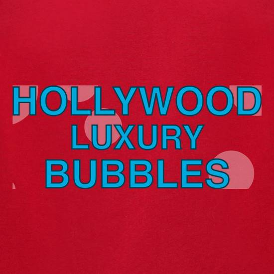 Hollywood Luxury Bubbles Car Wash t-shirts for ladies