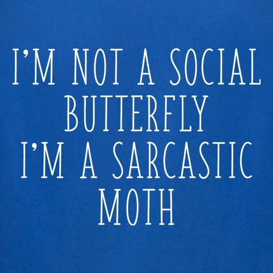 I'm Not A Social Butterfly t-shirts for ladies