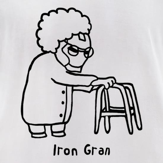 Iron Gran t-shirts for ladies