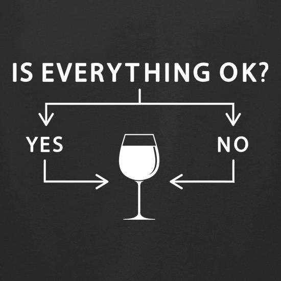 Is Everything Ok? Wine. t-shirts for ladies