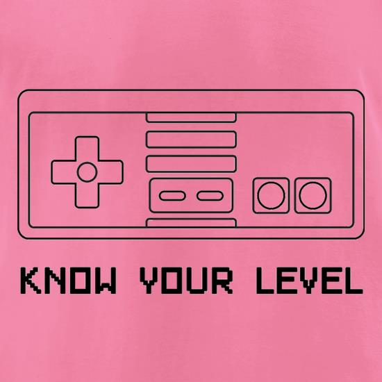 Know Your Level t-shirts for ladies