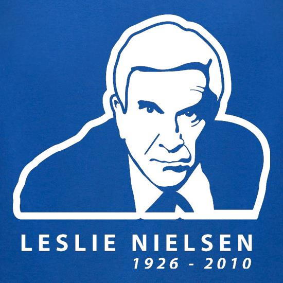 Leslie Nielsen t-shirts for ladies