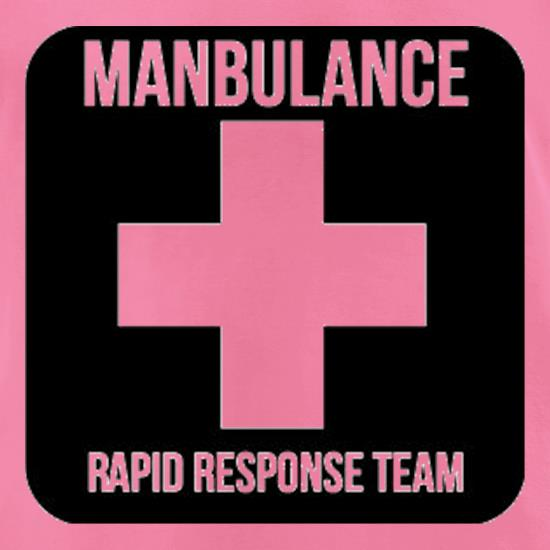 Manbulance Rapid Response Team t-shirts for ladies
