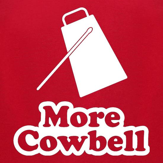 More Cowbell t-shirts for ladies