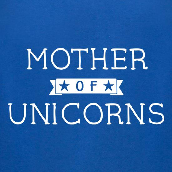 Mum Of Unicorns t-shirts for ladies