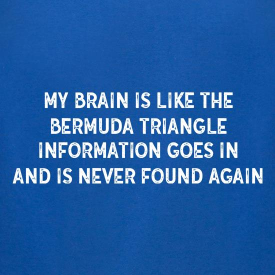 My Brain Is Like The Bermuda Triangle t-shirts for ladies