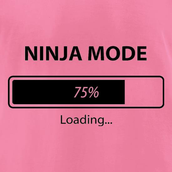Ninja Mode Loading t-shirts for ladies