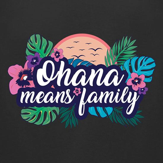Ohana Means Family t-shirts for ladies