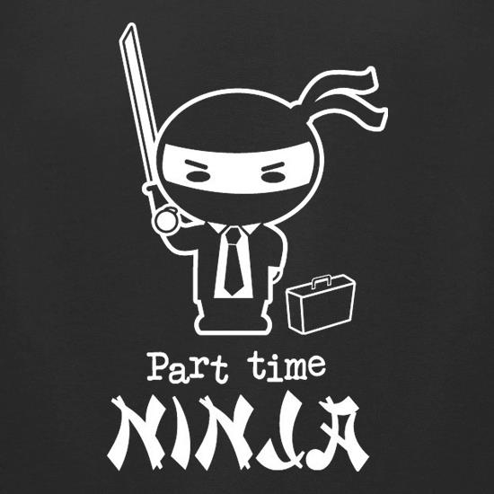 Part Time Ninja t-shirts for ladies