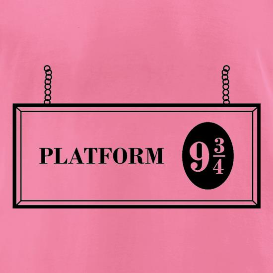 Platform Nine And Three Quarters t-shirts for ladies