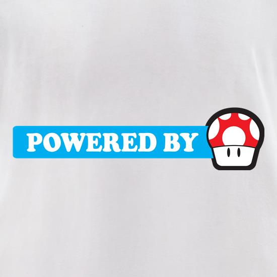 Powered By Mushroom t-shirts for ladies