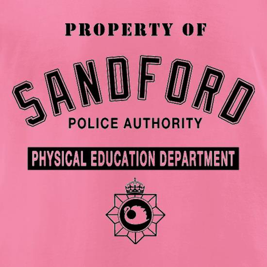 Property Of Sandford Police Authority t-shirts for ladies