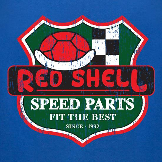 Red Shell Parts t-shirts for ladies