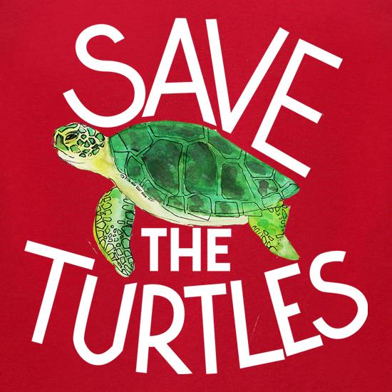 Save The Turtles t-shirts for ladies