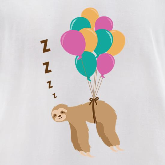 Floating Sloth t-shirts for ladies