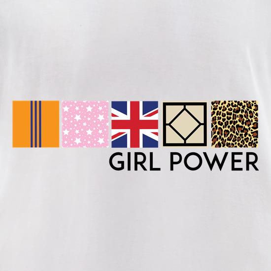 Spice Girl Power t-shirts for ladies