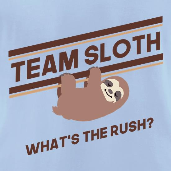 Team Sloth t-shirts for ladies