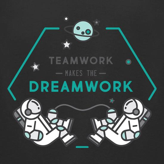 Team Work Makes The Dream Work t-shirts for ladies