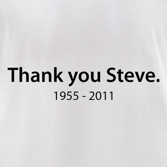 Thank You Steve t-shirts for ladies