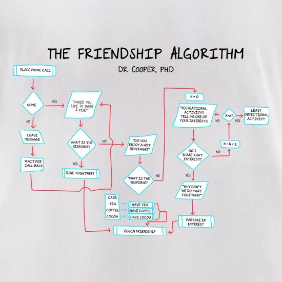 The Friendship Algorithm t-shirts for ladies
