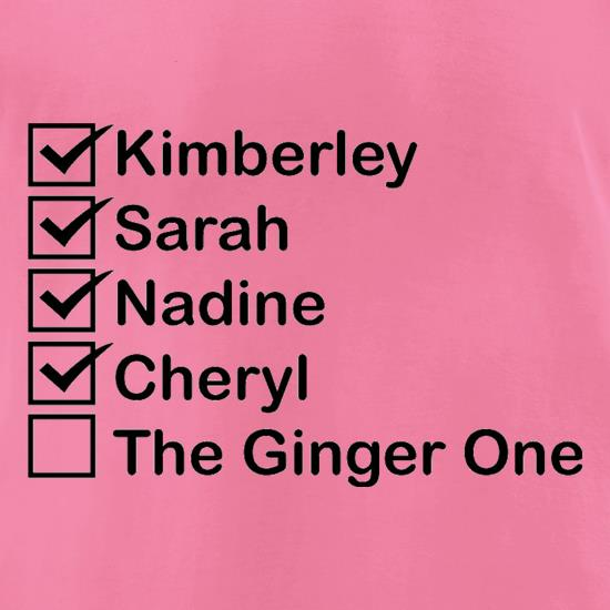The Ginger One t-shirts for ladies
