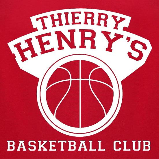 Thierry Henry's Basketball Club t-shirts for ladies