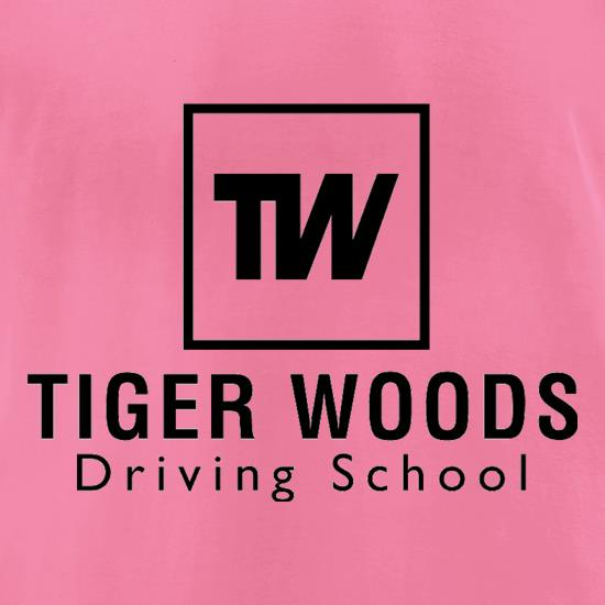 Tiger Woods Driving School t-shirts for ladies