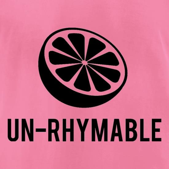 Un-Rhymable t-shirts for ladies