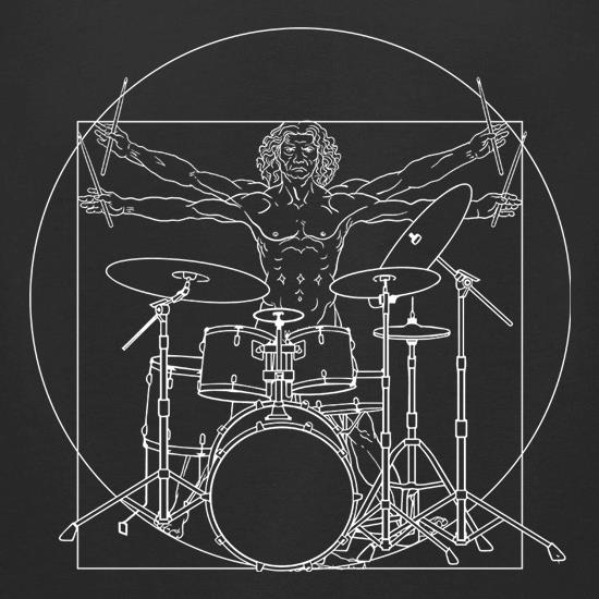 Vitruvian Drummer t-shirts for ladies