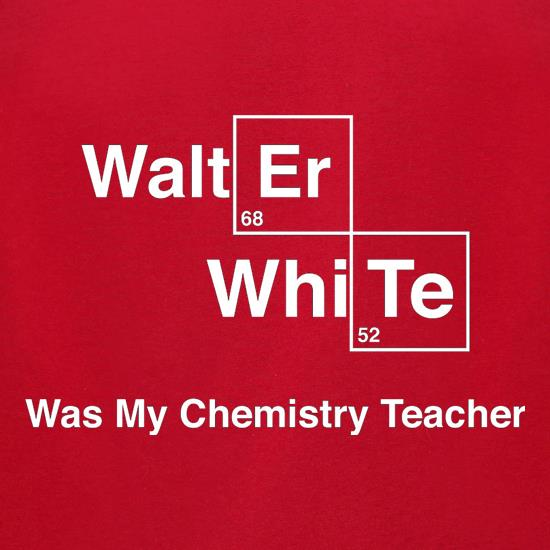 Walter White Was My Chemistry Teacher t-shirts for ladies
