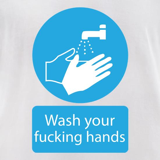 Wash Your FUCKING Hands Logo t-shirts for ladies