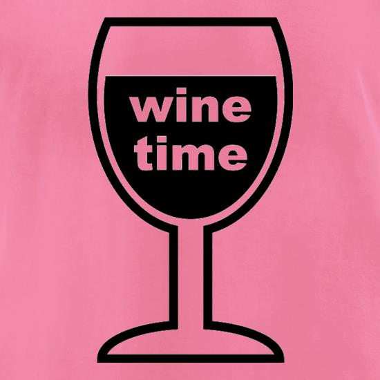 Wine Time t-shirts for ladies