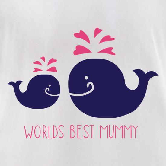 Worlds Best Mummy t-shirts for ladies