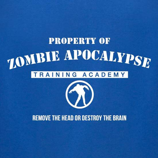 zombie apocalypse training academy t-shirts for ladies