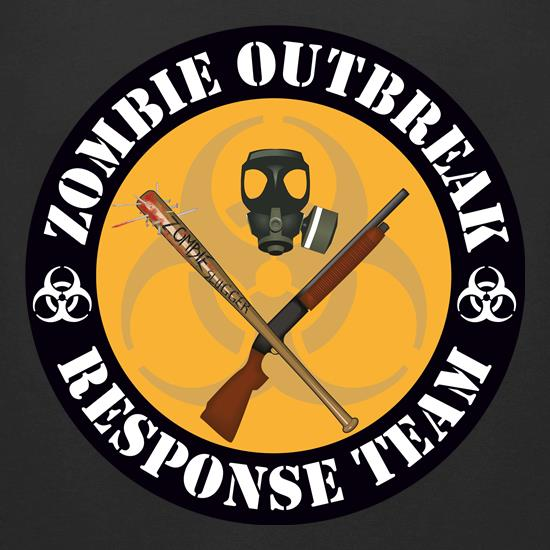 Zombie Outbreak Response Team t-shirts for ladies