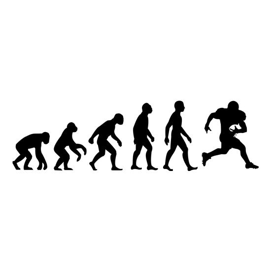 Evolution Of Man American Football t-shirts