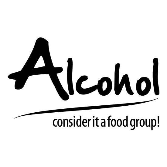 Alcohol - consider it a food group t-shirts