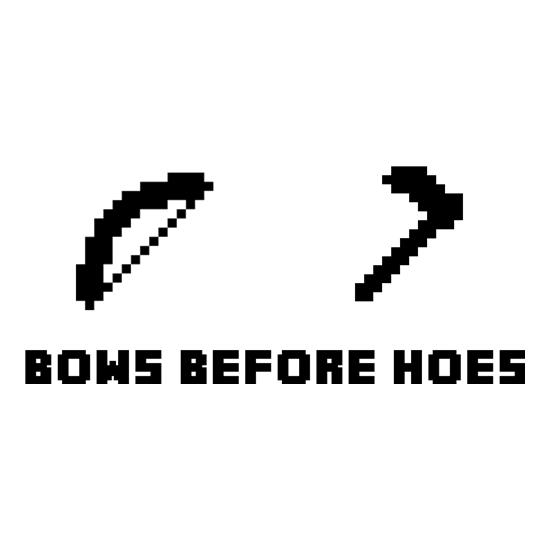 Bows Before Hoes t-shirts