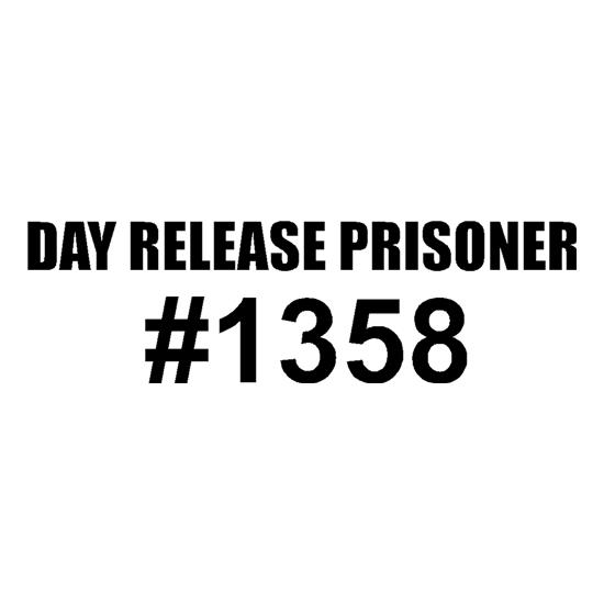 Day release prisioner #1358 t-shirts