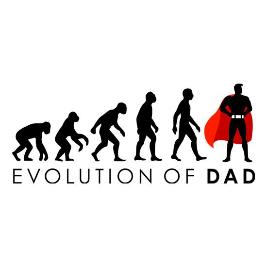 Evolution Of Dad t-shirts