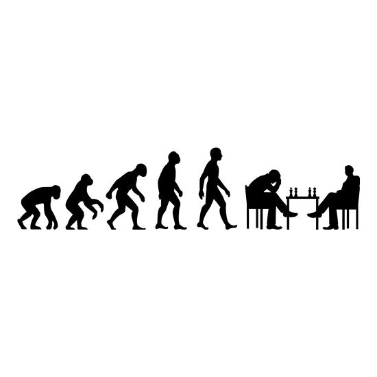Evolution Of Man Chess t-shirts