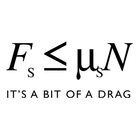 Friction It's A Bit Of A Drag t-shirts