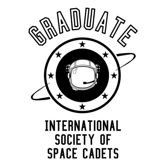 Graduate - International Society of Space Cadets t-shirts