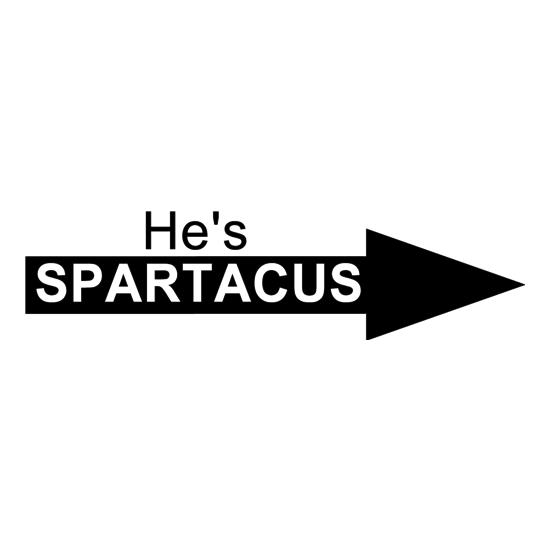 He's Spartacus t-shirts