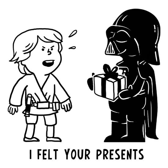 I Felt Your Presents t-shirts
