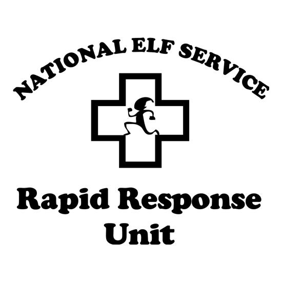 National Elf Service - Rapid Response team t-shirts