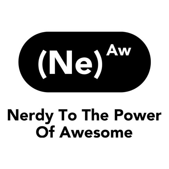 Nerdy To The Power Of Awesome t-shirts