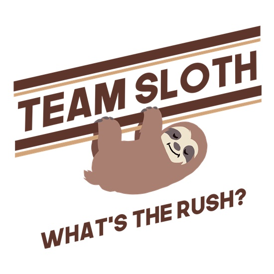 Team Sloth t-shirts