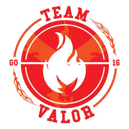 Team Valor GO t-shirts