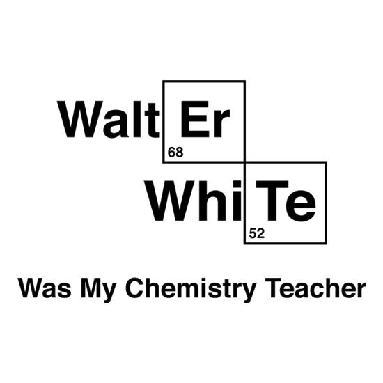 Walter White Was My Chemistry Teacher t-shirts